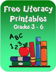 Free Literacy Printables for Grades 3 - 6 in Laura Candler's online file cabinet