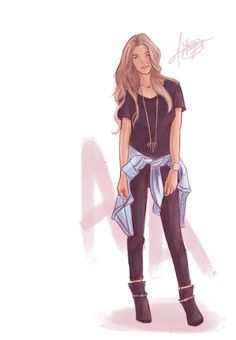modern celaena sardothien [by margahg] throne of glass Female Character Design, Character Drawing, Character Design Inspiration, Aelin Ashryver Galathynius, Celaena Sardothien, Sarah J Maas Books, Throne Of Glass Series, Poses References, Cartoon Art