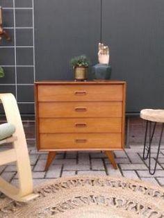 Vintage design ladekastje v Teeffelen Webe retro Deens 50 60