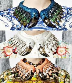 Whoa! Roberto Cavalli Resort 2013 X Flamingo Necklaces. Will You Be Rocking One Of These?