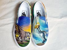 Custom Hand Painted Shoes Lion King by BitsofRouge on Etsy, $165.00