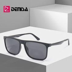 60b57952c24 DENISA Classic Vintage TR90 Frame Square Mens Sun Glasses Brand Designer Polarized  Sunglasses Outdoor Sports Goggles