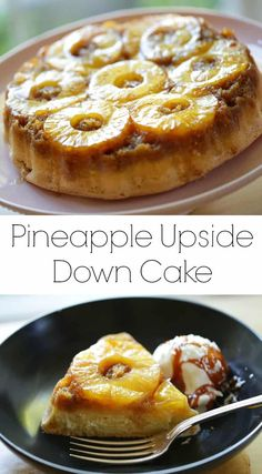 Homemade Pineapple Upside Down Cake. An Easy Cake Recipe That's Great For Easter Or Mother's Day Includes Recipe Video Via Entwithbeth Easy Summer Desserts, Summer Dessert Recipes, Fancy Desserts, Easter Recipes, Spring Recipes, Easy Birthday Cake Recipes, Easy Cake Recipes, Homemade Pineapple Upside Down Cake Recipe, Cake Recipes For Beginners