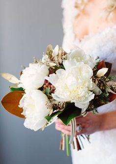 Magnolia wedding bouquet | 100 Layer Cake