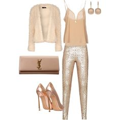 Untitled #214 by andreopoulouefi on Polyvore featuring Jane Norman, Zuhair Murad, BCBGMAXAZRIA, Casadei, Yves Saint Laurent and Astley Clarke
