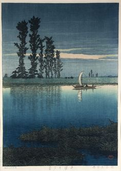Kawase Hasui (1930s) Evening of Ushibori