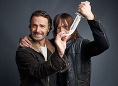 Andrew Lincoln, Norman Reedus, January 2016