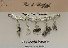Daughter 13th Birthday Lucky Charm Bracelet
