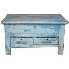 Vintage teak blue desk