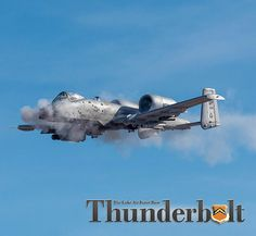 Air Force photograph by Airman 1st Class Caleb Worpel ----  An A-10 Thunderbolt II fires it's GAU-8 Avenger 30 mm cannon over the Barry M. Goldwater Range in Gila Bend, Ariz., Feb. 1, 2018. The A-10 is capable of firing 3,900 rounds per minute to defeat a wide variety of enemy targets. #lukeafbnews