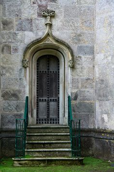 Highcliffe Castle door, Dorset. I really like old looking doorways for some reason. :)