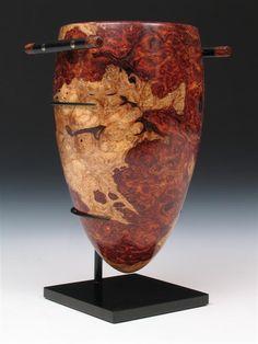 "*Wood Sculpture - ""Amphora"" by Mark Nantz (Desert Ironwood Burl)"