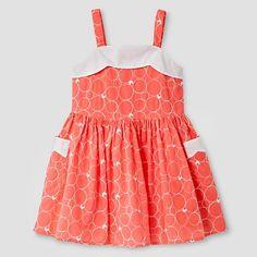 Toddler Girls' Scallop Neck Dress - Coral - Genuine Kids from Oshkosh™ : Target