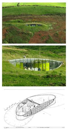 House in Pembrokeshire, Wales by Future Systems - i used this build as inspiration for an eco design house when i was at college.