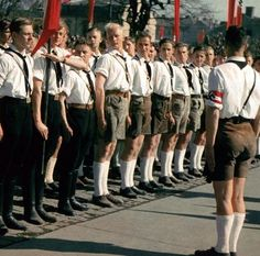 RARE COLOR PHOTO Of Hitlerjugend  https://www.pinterest.com/Atreh13/archaeology-history-yesterday-today/