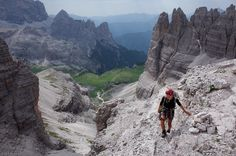 Dolomites, Italy, via ferrata... counting down the days until I climb this in June!