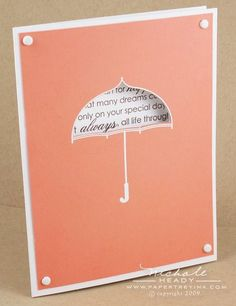 One of my all-time favourite cards by Nichole, using PTI Scattered Showers stamp set