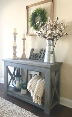 20 Beautiful Entry Table Decor Ideas to give some inspiration on updating your house or adding fresh and new furniture and decoration. Treatment Projects Care Design home decor Target Home Decor, Diy Home Decor, Decor Crafts, Diy Crafts, Flur Design, Design Design, Stand Design, Home Design, Decoration Table