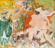 Willem de Kooning ~ Twee figuren in een landschap ~ 1967 ~ Olieverf op doek ~ Stedelijk Museum, Amsterdam ~ © 2016 The Willem de Kooning Foundation / Artists Rights Society (ARS), New York