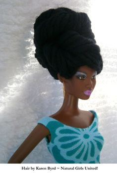 Loc's Updo Doll by Karen Byrd Natural Girls United http://www.naturalgirlsunited.com/natural-hair-dolls.html