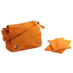 Fall accessory: Kalencom  Messenger Diaper Bag - Color: Pumpkin