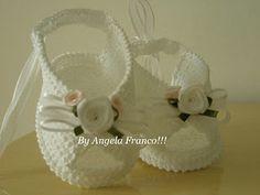 Angela crochê e arte: Que tal uma sandalinha Peep toe para as menininhas!!!