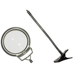 2.5X 5X Clip Lighted Table Top Desk Magnifier Lamp LED Light Magnifying Glass With Clamp, Adjustable Height and Position for Hobby, Crafts, Inspection, Reading and so on. * Continue to the product at the image link. (This is an affiliate link)