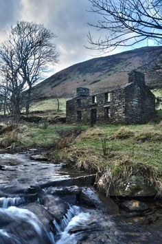 Old house in Glen Dhoo (Black Glen), Ballaugh, Isle of Man. Celtic:  Old, abandoned house, #Isle #of #Man.