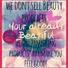 We don't sell beauty products, we simply pamper!! www.perfectlyposh.com/lindsy #wesimplypamper #perfectlyposh