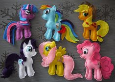 My Little Pony - made of felt :)
