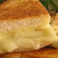 """Grilled Apple and Swiss Cheese Sandwich I """" This sandwich is one our family favorites! Try adding some well-cooked bacon before grilling! YUM!"""""""