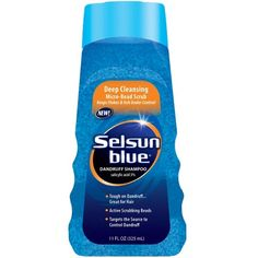 Selsun Blue Dandruff Shampoo 11 oz Deep Clean Pack of 4 -- Check this awesome product by going to the link at the image. (This is an affiliate link) Best Shampoo For Dandruff, Hair Dandruff, Getting Rid Of Dandruff, Best Shampoos, Hair Shampoo, Dandruff Control, Shiny Hair, Easy Hairstyles, Scrubs