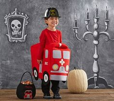 Parks wants to be a firetruck (not man) for Halloween.  DIY help appreciated @scooterqueen