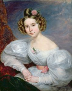 Portrait of a young woman, c.1833-34 (oil on canvas) Posters & Prints by Ludwig August or Louis August Schwiter