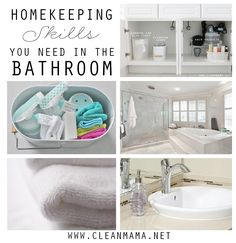 Start your year out right with these helpful tips! Homekeeping Skills You Need In the Bathroom via Clean Mama