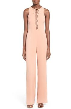 Missguided Lace-Up Sleeveless Jumpsuit