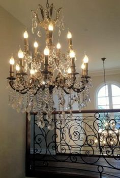 15 arm Americana chandelier in entrance  - from Designer Chandelier