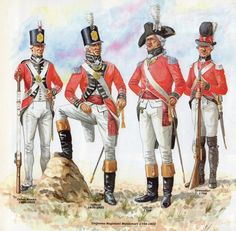 """British;Infatry Regiment Montemart 1794-1802. One of  the many """"White Cockade"""" French Emigre regiments raised by Britain during the French Revolution and early Napoleonic Wars."""