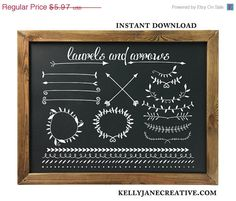 SALE Arrow Clipart  Laurel Clipart  Chalkboard by KellyJSorenson https://www.etsy.com/listing/158736930