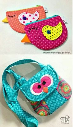 Patchwork Bolsas Ideas Pouch Tutorial 50 Ideas - Home & DIY Fabric Crafts, Sewing Crafts, Sewing Projects, Sewing Ideas, Purse Patterns, Sewing Patterns, Patchwork Tutorial, Pouch Tutorial, Patchwork Bags