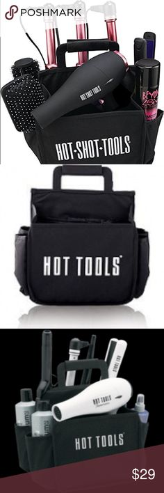 Hot Shot Tools Appliance Caddy Hot Tools Appliance Caddy THIS PURCHASE DOES NOT INCLUDE THE HAIR TOOLS, IT IS FOR THE EMPTY CADDY ONLY * Three heat resistant pouches excellent for curling irons, flat irons, and other styling appliances * Large pouch, ideal for hair dryers and other