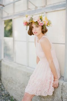 Make a statement with a beautiful flower crown.
