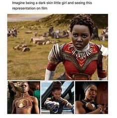 You shouldn't have to imagine this. We shouldn't all of the sudden be pleased that dark skinned little girls now have powerful icons in film. We should be disappointed that it took until now to happen....