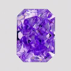 Extremely rare 0.81 ct diamond was color graded Fancy Vivid purple. GIA (102513)