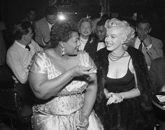 When Marilyn Monroe learned that the Mocambo, a popular Hollywood night club, would not book Ella Fitzgerald because of segregation. Marilyn phoned the manager and told him that she would reserve a front row table every night Ella performed there, knowing that her presence would get a lot of press and publicity for the club. Soon thereafter, Ella became the first African-American to perform at the Mocambo, and as promised, Marilyn was seated right up front to enjoy her favorite singer.