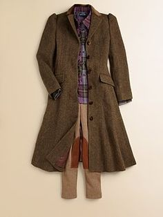 Ralph Lauren - Girl's Tweed Princess Coat