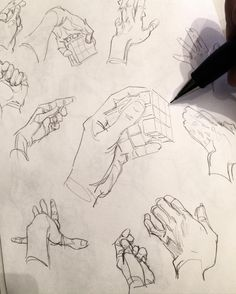 Drawing your own hand- a good way to warm up, it's less pressure to make a cool drawing or design.