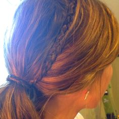 Braided hair tie