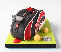 Tennis Bag Cake Chocolate Cake with Raspberry Curd filling; 2.750 kg