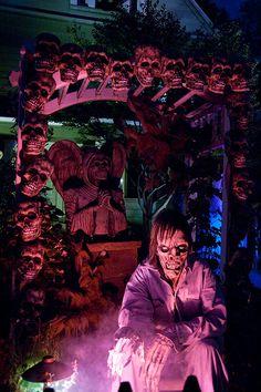 Halloween Horrors on Clinton Place by JLovely.   Love the skull pergola.